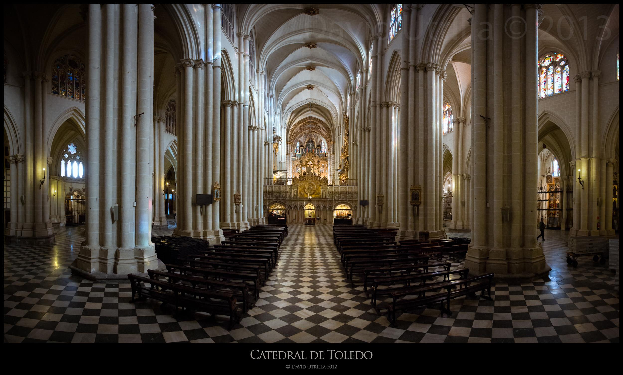 Interior de la Catedral de Toledo, por David Utrilla